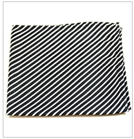 Paul Malone Silk Pocket Square, Black and White