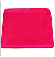 Paul Malone Silk Pocket Square, Solid Satin Hot Pink