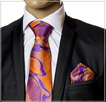 Verse9 Necktie, Pink, Orange and Purple