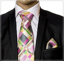 Verse9 Necktie, Pink, Green Grey