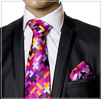 Verse9 Necktie, Pink Squares