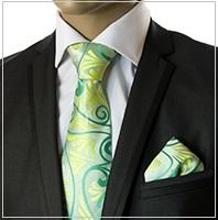 Verse9 Necktie, Green Paisleys