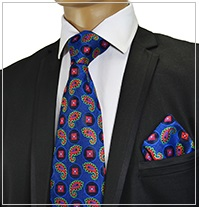 Verse9 Necktie, Blue Red Paisley